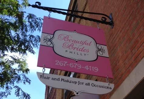 Beautiful Brides Philly studio sign